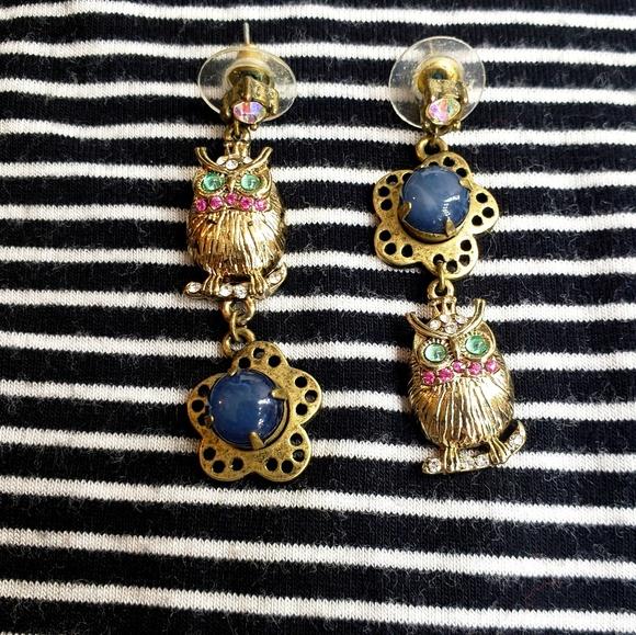 fe11cd490efb0 Betsey Johnson Owl Earrings EUC